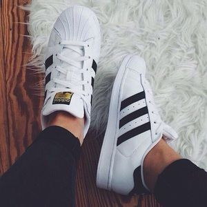 adidas Shoes - Adidas White Superstar Trainers